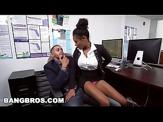 Bangbros big tits ebony babe ivy young gets ahead in the office