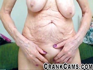 Wrinkled senior shaking it crankcams com
