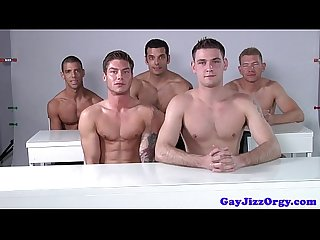 Male model orgy after some pro posing