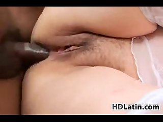 Chubby latin grandma banged by big cock