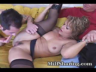 Excited young guy fucks wife