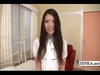 Embarrassed naked japanese amateur shy striptease subtitled