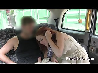 Redhead sucks and fucks in london fake cab