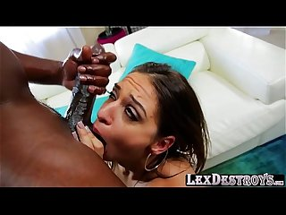 Gorgeous brunette sara luvv teases and gets fucked by lexington