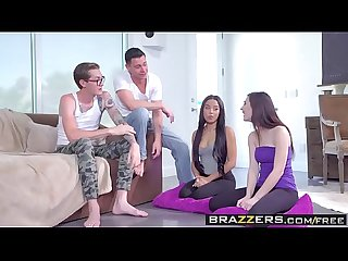 Brazzers - Teens Like It Big - Jenna Reid Maya Bijou Buddy Hollywood and Seth Gamble - Double Dare