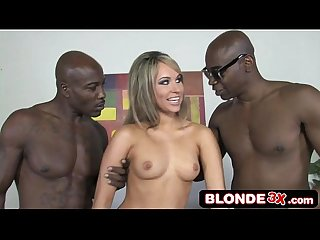 Hot Hungarian honey aleska diamond vs two big black cocks