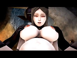 3D hentai 19 pregnant vampires and monsters