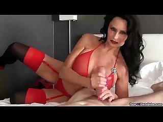 Ov40 brunette pornstar pov handjob