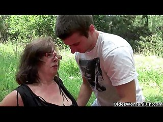 Nothing feels better than grandma s cunt outdoors