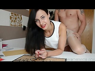 Young german amateur slut draining cum