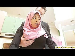 Ella Knox cock fed deep throat by the horny rich white guy only in Dubai!