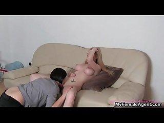 Horny female boss loves licking
