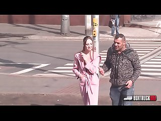 Simona dreweova is sucking and fucking a stranger in our fucktruck in public