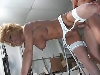 Blonde milf takes a cock 1