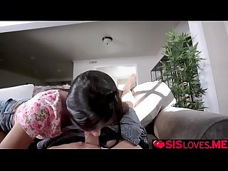 Katya Rodriguez goes on top of step bros huge man meat!