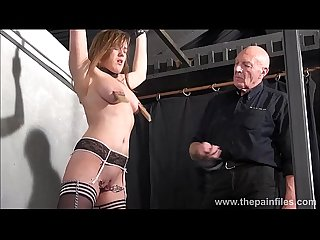 Teen slave taylor hearts nipple clamp punishment and pussy torments of beautiful