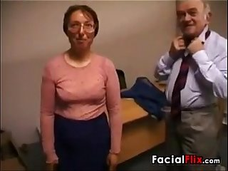 Ugly mature woman gets fucked by an old Fart