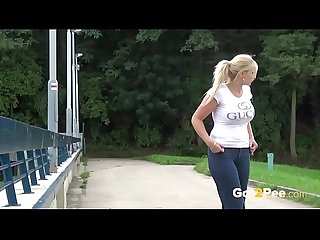 Public Pissing With Tasty Czech Girl