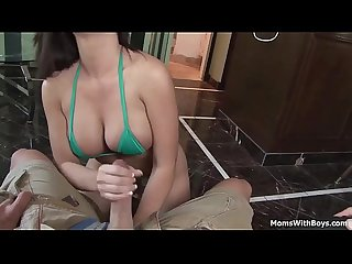 Next door wife gives me blowjob and titjob