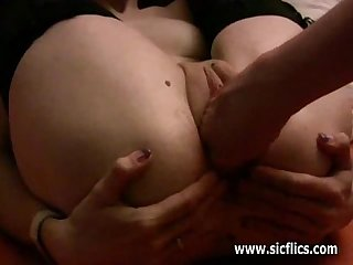 Geek slut fist fucked in her destroyed gaping cunt