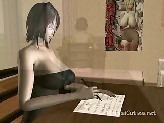 anime cutie di hitam stoking mouthfucked