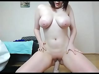 Hot sexy big boobs girlfriend rids herself