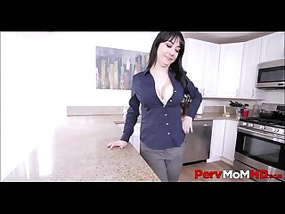Horny Milf step mom alessandra snow seduces her step son and masturbates to orgasm