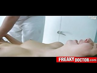 Chubby Czech blonde Candie enters gyno fetish hospital
