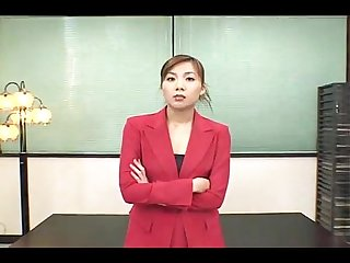 Sexy japanese office woman bukakke