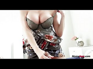 MOM puts her BIG TITS in my MOUTH