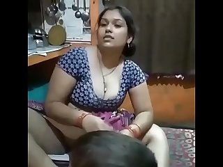 Desi Bhabhi legs wide open in front of her Son!!