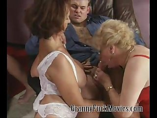 Gang bang grannies porn