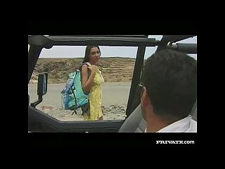 Amanda blowjob and anal sex in the jeep
