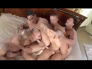 Bareback group anal train