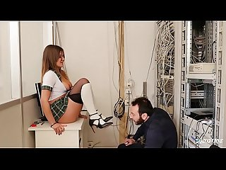 La cochonne ass fucking in the principal s office with french mina sauvage