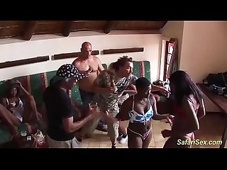 real african interracial groupsex party