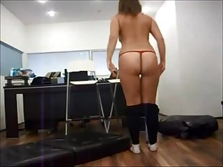 Milf on real office hidden cam