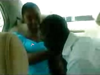 Hausa Teen Kiss in A car