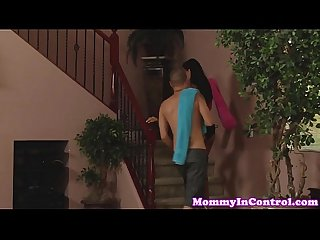 Bigtitted stepmom cumswaps with teen