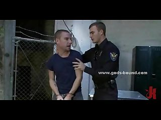 Young corrupted gay cop in bdsm sex