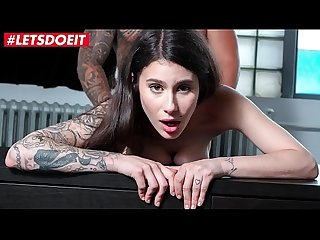 Letsdoeit shy brunette hottie has rough sex in her first porn casting