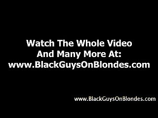 Interracial loving slut sucks black cock