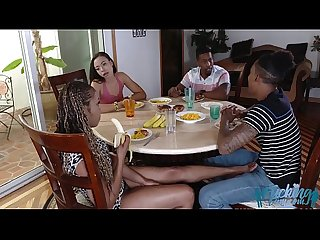Adriana maya and misty stone in family trouble