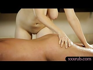 Busty redhead masseuse gets banged by her horny client