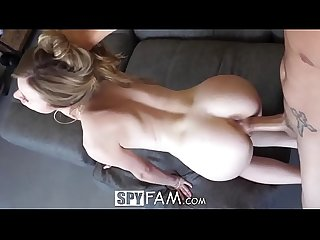 Spyfam step brother fucks angry horny step sister anya olsen