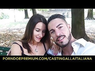 CASTING ALLA ITALIANA - Hot anal audition with Italian first-timer Debby Love