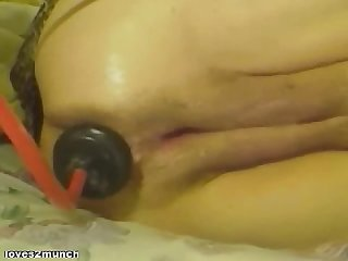 57yo granny extreme anal insertion fisting and squirting
