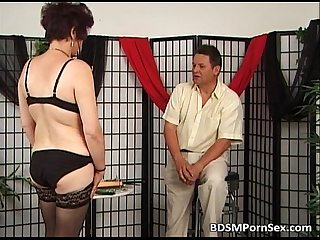 Mature couple playing bdsm games