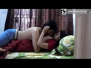 Indian desi honeymoon indian wife fucked in hot red saree