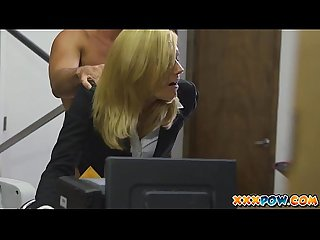 Blonde milf becomes a prostitute in a pawn shop